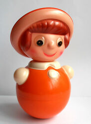 1950s Vintage Ussr Russian Soviet Celluloid Sound Toy Doll Lively Grandmother