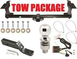 Trailer Hitch For 11-16 Honda Odyssey Complete Pkg W/ Wiring 2 Receiver 2 Ball