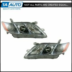 Front Headlamps Headlights Left Lh And Right Rh Pair Set For 07-09 Camry Hybrid