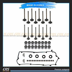 Intake And Exhaust Valve And Lifters And Stem Seal And Valve Cover Fits Hyundai Kia 1.6l