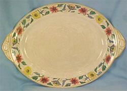 Johnson Brothers Pareek Chamonix Serving Platter Colorful Flowers Crazing As Is