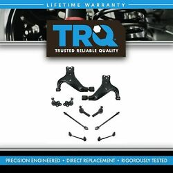 TRQ Control Arm Ball Joint Tie Rod Front Suspension Kit Set for Pathfinder QX4