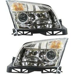 Headlight Set For 2006-2009 Mercury Milan Left and Right With Bulb 2Pc