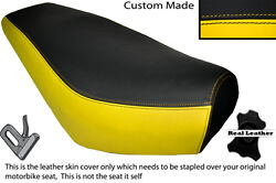 Yellow And Black Custom Fits Pulse Zoom 125 Dual Leather Seat Cover Only