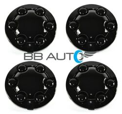 NEW BLACK 15quot; ALLOY WHEEL HUB CENTER CAPS SET FOR 1991 1996 DODGE DAKOTA TRUCK