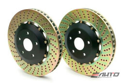 Brembo Front 2pc Oversize Rotor Disc Upgrade 380x34 Drill Rs4 B7 06-08