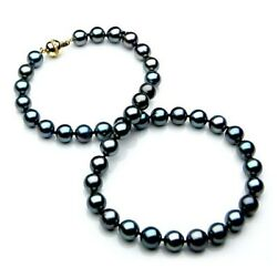 New 10-12mm Tahitian Black Diamond Pearl Necklaces Pacific Pearlsandreg Wedding Gifts