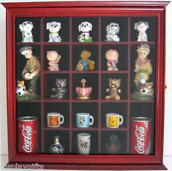 Small Figurines Miniature Collectible Display Case Shadow BoxGlass Door:CD10 CH
