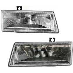Headlight Set For 91-95 Dodge Caravan Plymouth Voyager Left And Right W/ Bulb