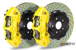 Brembo Front GT Brake BBK 6pot Yellow 380x34 Drill Rotor Ferrari 550 575 96-05