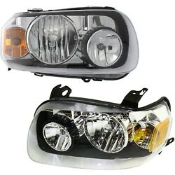 Headlight Set For 2005 2006 2007 Ford Escape Left And Right With Bulb 2pc