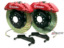 Brembo Front GT Brake BBK 6piston Red 380x34 Drill Disc Rotor F150 4WD 04 2004