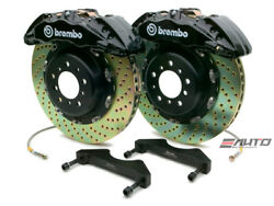 Brembo Front GT Brake BBK 6piston Black 380x34 Drill Disc Rotor F150 2WD 09-13