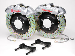 Brembo Front GT BBK Brake 6piston Silver 355x32 Drill Disc for G35 350Z Fairlady