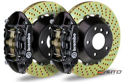 Brembo Rear GT BBK Brake 4piston Black 345x28 Drill Disc for G35 350Z Fairlady