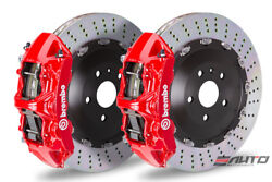 Brembo Front GT BBK Brake 6pot Caliper Red 405x34 Drill Rotor RANGE ROVER 03-09