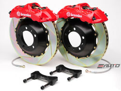 Brembo Front GT Brake 6pot Red 355x32 Slot Rotor Benz W204 C204 C207 A207 W212