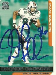 Oronde Gadsden Miami Dolphins Signed Autographed 2000 Pacific Card 122 W/coa