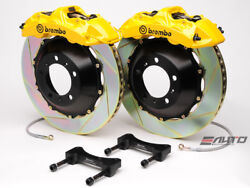 Brembo Front GT Brake 6Pot Yellow 355x32 Slot for WRX 08-14 Legacy 2.5i 10-14
