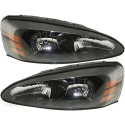 Headlights Headlamps Left And Right Pair Set New For 04-08 Pontiac Grand Prix