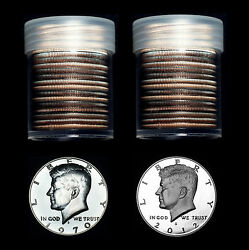 1970 S Through 2014 S Kennedy Half Dollar Mint Proof Set Rolls Lot Of 44 Coins