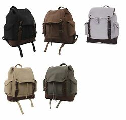 vintage style expedition backpack canvas rucksack rothco 8744 $45.99