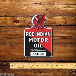 Red Indian Early Die Cut Lubester Decal Sae 30 - 6 X 9
