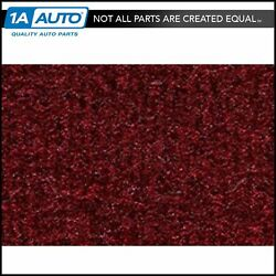 For 1981-89 Plymouth Reliant 2 Door Cutpile 825-maroon Complete Carpet Molded
