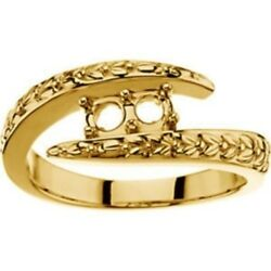 Custom Made Two-stone Mothers Ring In 14 Kt Yellow Gold, Choose Your Stones