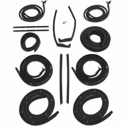 1958 Cadillac Series 60 62 And Deville 4dr Hardtop Body Weatherstrip Seal Kit