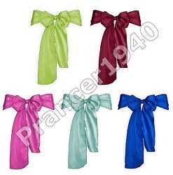 10 Pack Satin Bow Chair Sashes - Banquet or Wedding Party Sash $8.99
