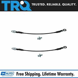 Trq Tailgate Cables Pair Set For 07-13 Chevy Silverado Gmc Sierra Hummer H3t