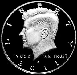 2011 S Kennedy Half Dollar Mint Silver Proof From Original Us Silver Proof Set