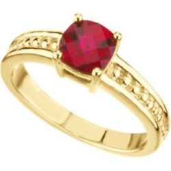 Custom Made One-stone Mothers Ring In 14kt Yellow Gold Choose Your Stones