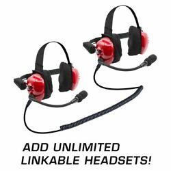 Set Of 2 Nascar Race Fan Intercom Scanner Bth Two Way Headsets W/ Mic And Cables