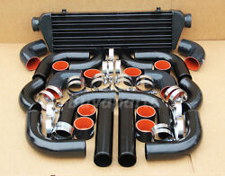 12x 2.5 Inch Black/red Coupler Intercooler+ Piping Kit Dodge Viper Charger Ram