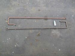Pair Of Large Antique Wrought Iron Industrial Scaffold Hooks Decorative Use Only