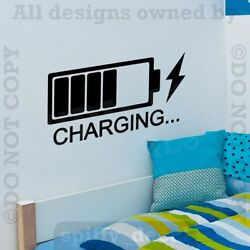 CHARGING Bedroom Livingroom Family Removable Wall Decal Vinyl Sticker Decor