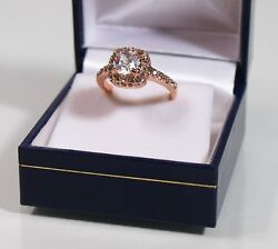 18ct Rose Gold Plated Cubic Zirconia Dress Ring