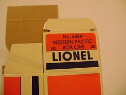 Lionel 6464-100 Western And Pacific Box Car Licensed Reproduction Box