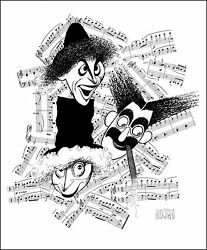 Al Hirschfeldand039s Marx Brothers High Notes Hand Signed Limited Edition Lithograph