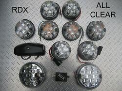 Rdx All Clear Led Numberplate Light/lamps And Relay 1983 To 1994 90/110 Td/200tdi