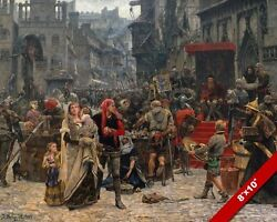 Visby Ransom Mideval King And Castle Family Canvas Giclee 8x10andnbspfantasy Art Print