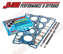 Ford 6.0 6.0l Powerstroke Diesel Pair Oem 18mm Cylinder Head Gaskets And Arp Studs