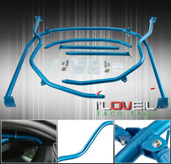 For 13-19 Fr-S Brz Ft86 Fa20 Full Bolt-On Race 6 Point Interior Roll Cage Blue