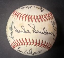 Snider Gibson Agee Fingers Fidrych +16 Hofers And Legends Signed Baseball Coa