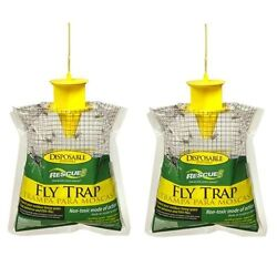 Outdoor Disposable Fly Trap Catcher Station Hanging Style 2 pack