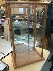 Wood and Glass Doll Case Display Case Curio Case Mahogany