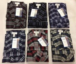 New Acura Men's FLANNEL ROBE Multi Color'sSize S-M-L-XL-2X-3X!GREAT FOR A GIFT $29.99