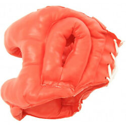 Red Boxing Mma Professional Practice Training Head Gear Heavy Duty Laced